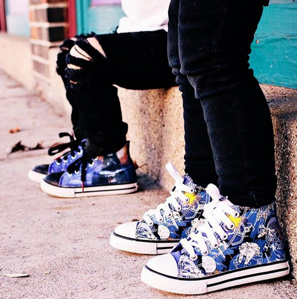 Lace up with high tops featuring fan favorite designs | http://spr.ly/6008BTGim + http://spr.ly/6003BTGcB