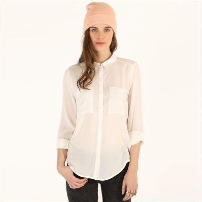 Camisa de viscosa de pinkie 16e