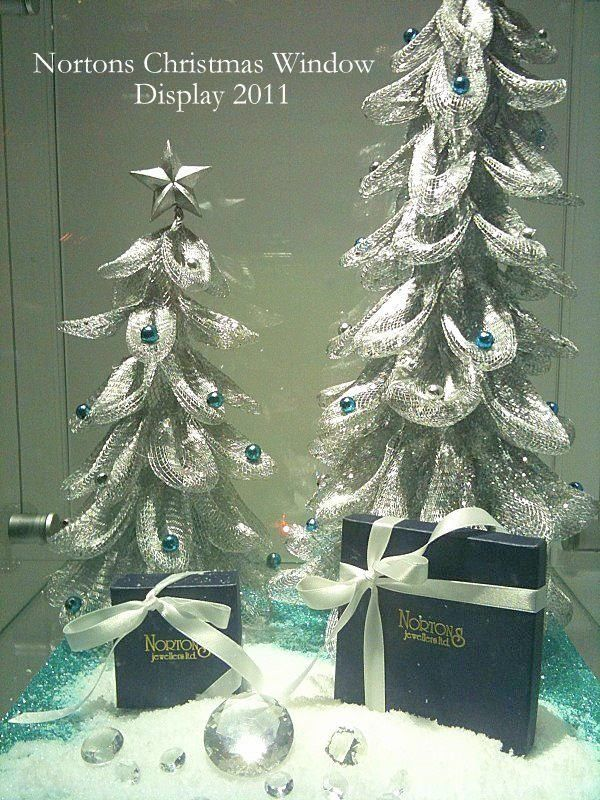 Christmas Jewellery Window Display for Nortons Jewellers created by Moving Designz
