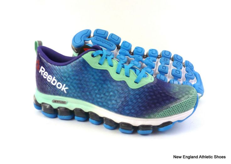 Reebok women Z Jet Thunder running shoes size 9 - Mint / Blue / Violet / White #Reebok #RunningCrossTraining