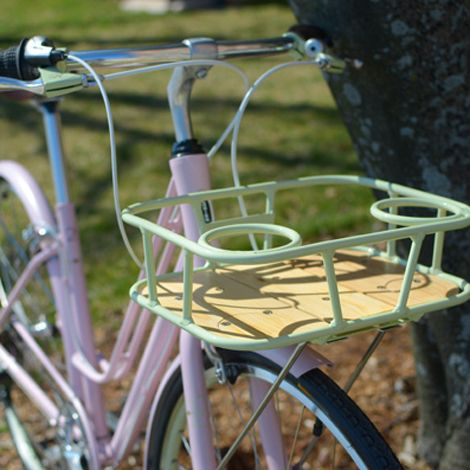 "I like the ""cup-holders"" on the basket of Schwinn's Rendezvous 2. I used to make a cup-holder using Quirky Bandits for my front rack."