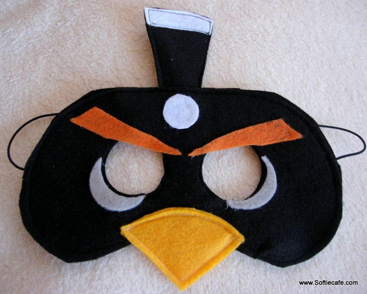 Angry Birds Felt Masks. - Babysitting ideas