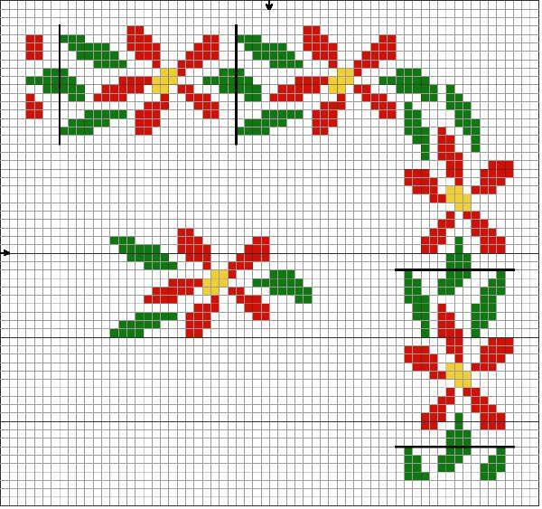 Узоры вышивки крестом картинки схемы для детей