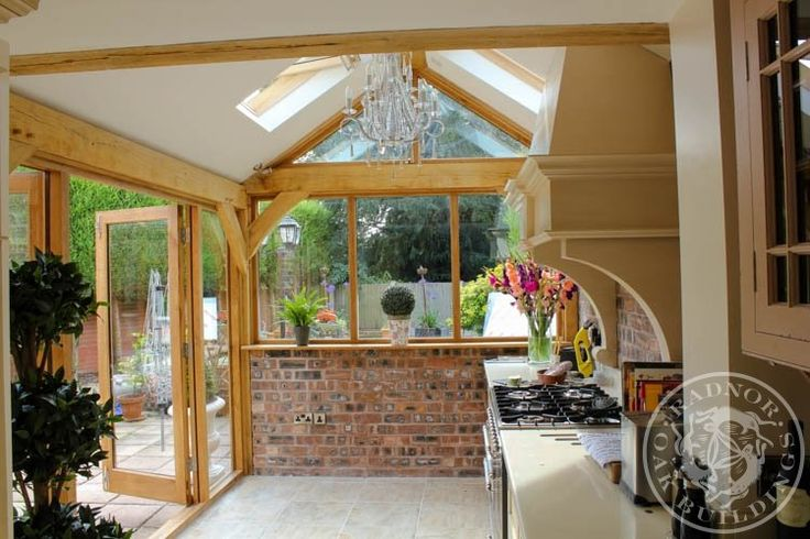 Internal oak frame shed conversion pinterest home for Oak garden office