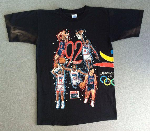 Usa Dream Team Shirt 1992 Vintage Barcelona Summer