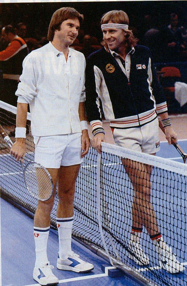 Jimmy Connors e Bjorn Borg