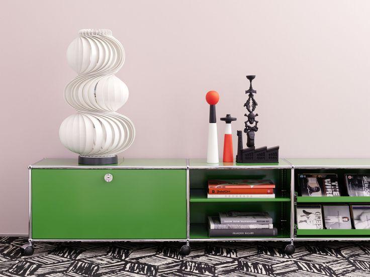 Modulares Sideboard aus Metall im modernen Stil USM Haller Lowboard Kollektion USM Haller by USM Modular Furniture | Design Fritz Haller
