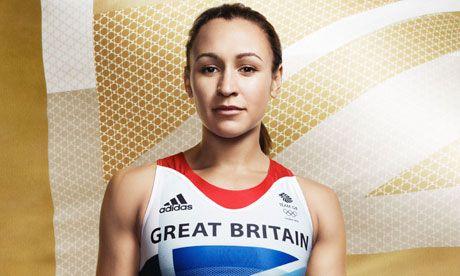 Jessica Ennis in Team GB Olympic kit designed by Stella McCartney