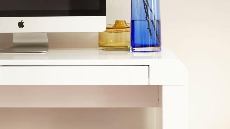 modern white gloss desk