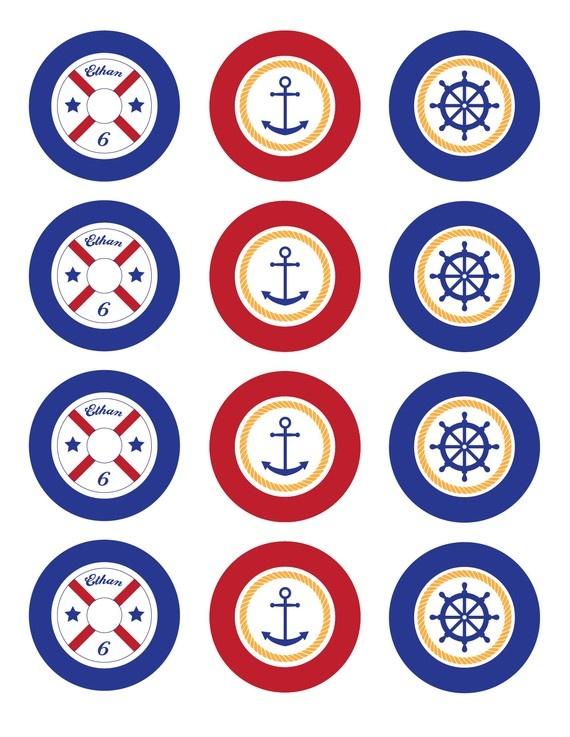 Modern Nautical Printable Party Pack por EmmyandGabbie en Etsy, $20,00