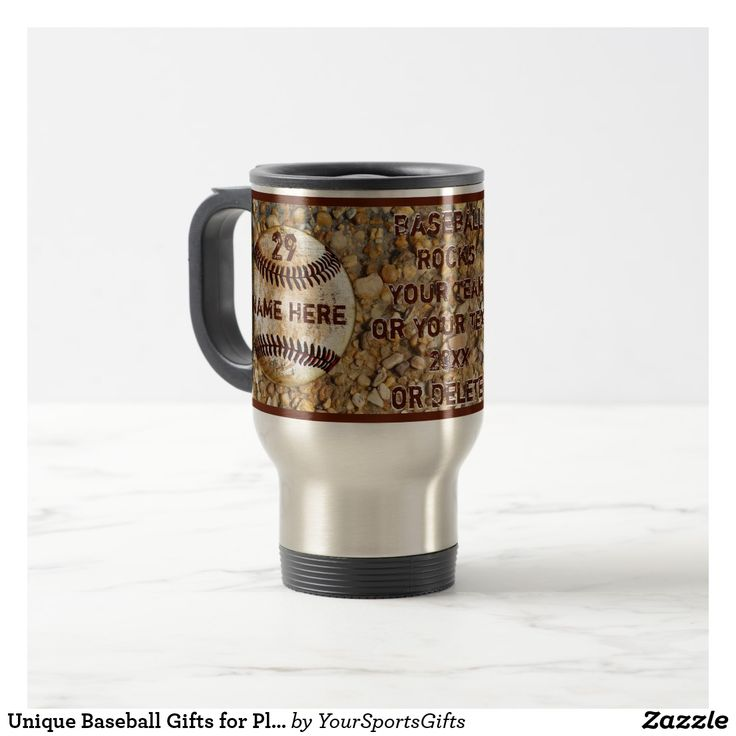 Unique Baseball Team Gifts for Players and Coaches with Your Text CLICK: https://www.zazzle.com/z/yeqi4?rf=238012603407381242 Unique Baseball Mugs are fantastic and unique baseball gifts for players and gifts for baseball coaches, baseball team mom gifts and gifts for baseball lovers. More HERE: http://www.Zazzle.com/YourSportsGifts Personalized baseball gifts for coaches and players. For design CHANGES and HELP, Call Rod or Linda at: 239-949-9090