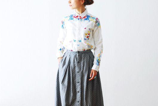 "[ladie's]FWK by Engineered Garments(エフダブリューケイ バイ エンジニアードガーメンツ) ""S/C Shirt -M/C Floral Print-"""