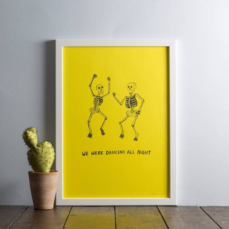 We were dancing all night print