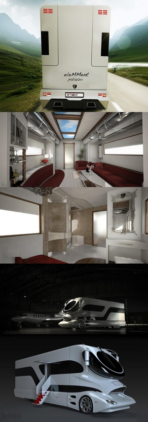 Not realistic for us, but I do love the Sci-Fi look of this little RV.