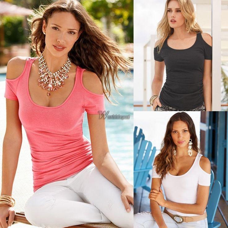 Donne Chiffon Manica Corta Perline Girocollo T Shirt Camicia Camicetta Tops Wt88
