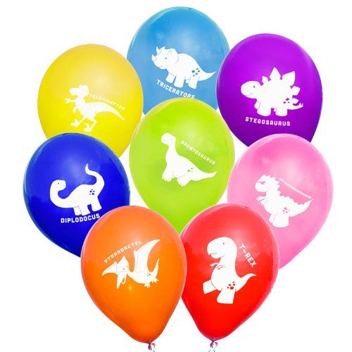 """Uninflated 12"""" Cheeky Dinosaurs Balloons Asstd 8 Pack notjustballoons http://www.amazon.co.uk/dp/B003WO91EM/ref=cm_sw_r_pi_dp_ZyE6ub1ADP663"""