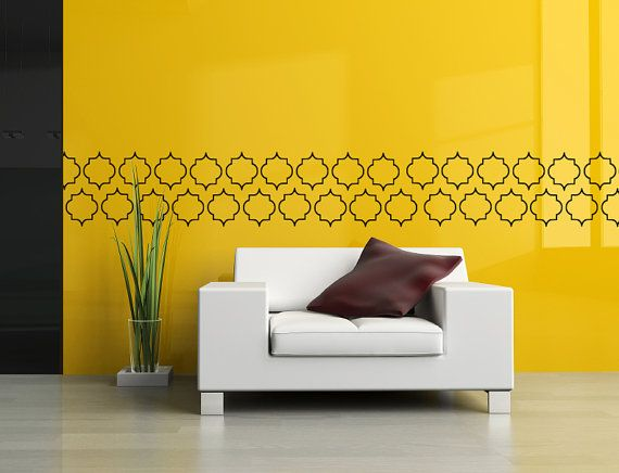 VENTE termine bientôt - marocain Wall Art Stickers - Motif marocain - papier peint de vinyle - marocain Wall Decal 0019