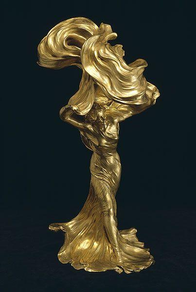 La danse du voile. Raoul Larche. Inspiré par Lois Fuller 1890