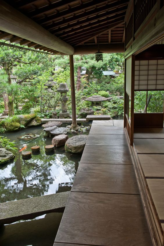 Small Is Beautiful In A Kanazawa Garden By Japantimes: The Porch Off The  Drawing Room, With Carp Enjoying The Stillness Of A Pool In The Stream That  It ... Part 33