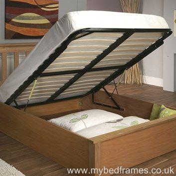 Terran #oak #ottoman bed frame from mybedframes.co.uk