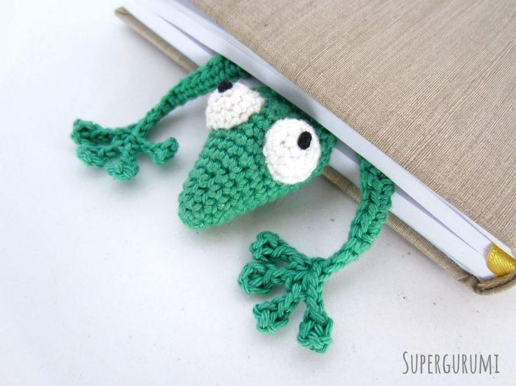 Amigurumi Crochet Bookmark Gecko