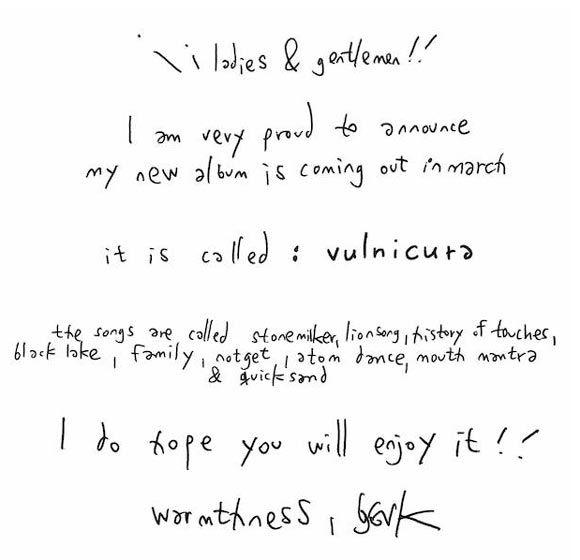 Björk Announces New Album Details In Very Björk Way | Fashion Magazine | News. Fashion. Beauty. Music. | oystermag.com