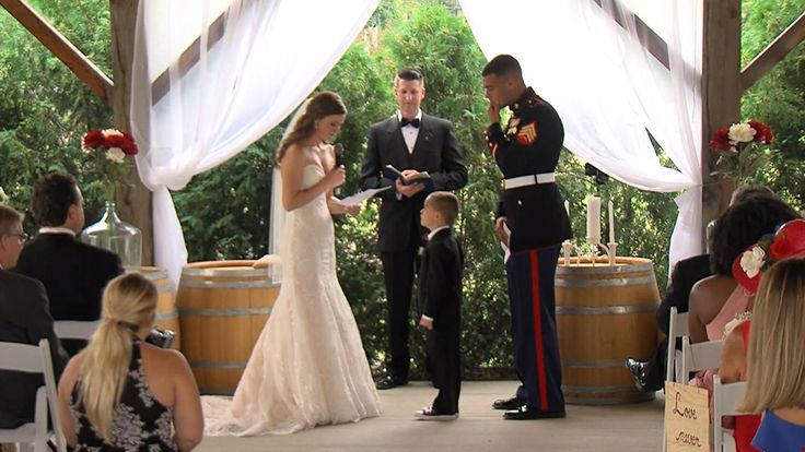 Emily Leehan and Joshua Newville and were the stunning bride and groom — but it was Newville's 4-year-old son who stole the show.