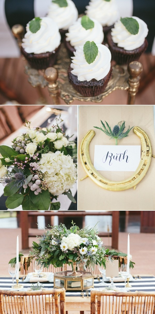 St. Patrick's Day Inspired Table Top from Sweet August Events & Rachael Hall // Place cards, laser cut sign, and menu/bar signs by Wayfarer's Creative // Style Me Pretty