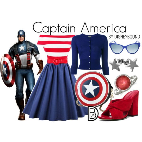 Disney Bound - Captain America - Visit to grab an amazing super hero shirt now on sale!