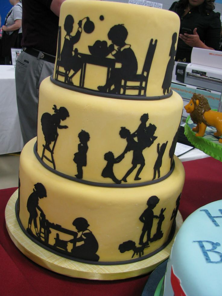Cake And Decor 1220 : 17 Best images about Cakes with silhouettes/laser cut frosting sheets on Pinterest Love story ...
