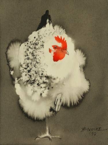 """Saatchi Art Artist Endre Penovác; Painting, """"Cluck-Cluck-Cluck"""" #art"""