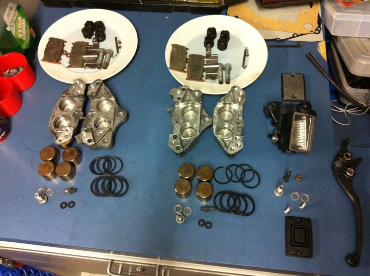 Complete overhaul of front calipers.