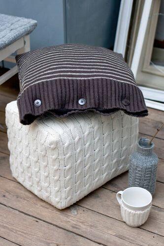 Idee smart per riciclare un vecchio maglione cuscino