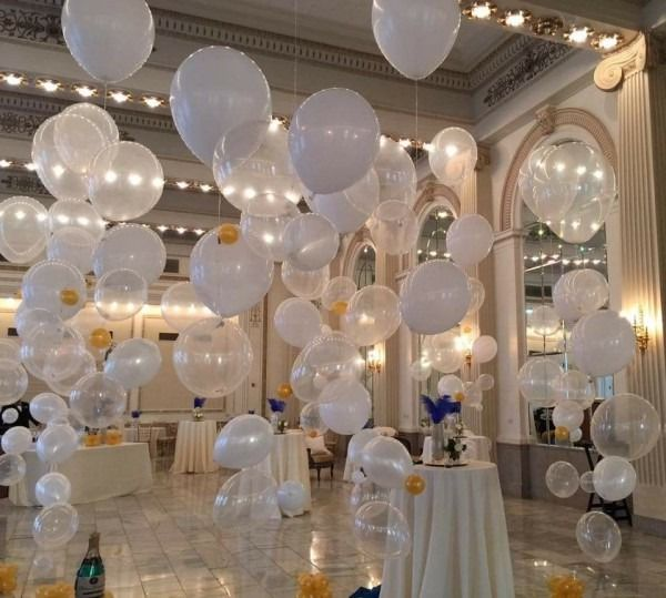 All White 50th Birthday Party Decorations