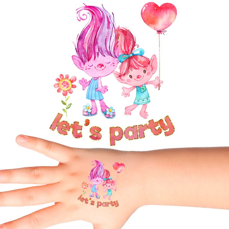 Trolls Let's Party Temporary Tattoos #378 (24 pack)