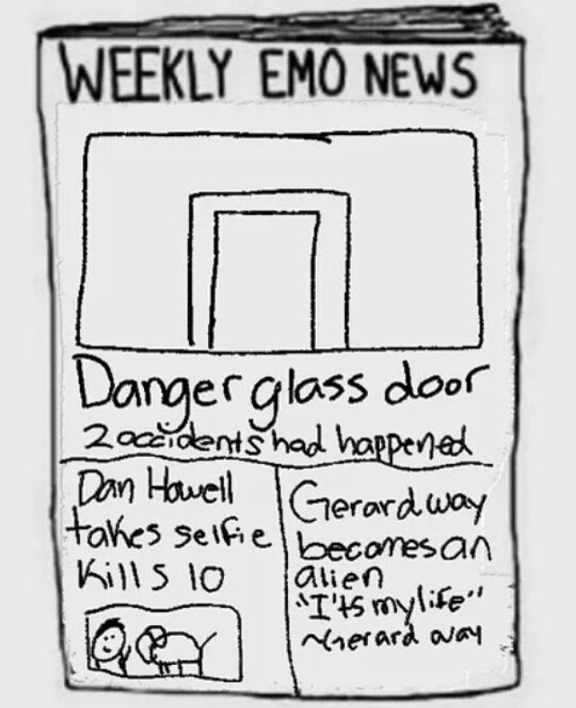 Omg are dan and phil regularly in the emo news like ????<<<<Yes they are