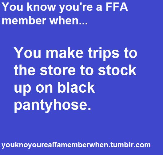 Reminds me of a van full of female FFA members and National FFA Convention!