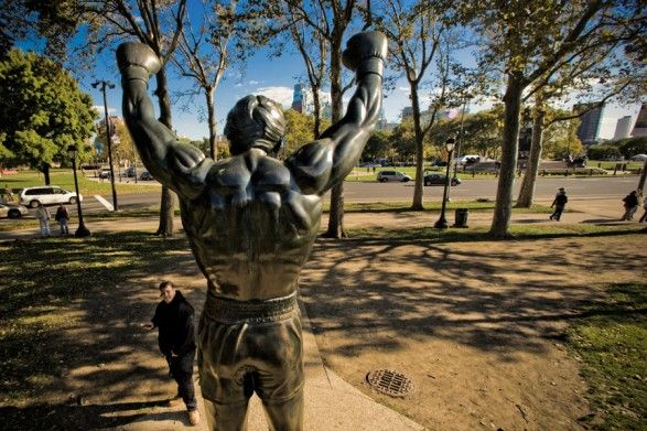 """The Rocky Statue and the """"Rocky Steps"""" — better known as the Art Museum Steps — are two of the most popular attractions in Philadelphia."""