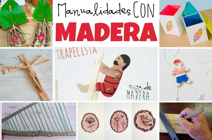 Manualidades con madera. #Manualidades hechas de #Madera