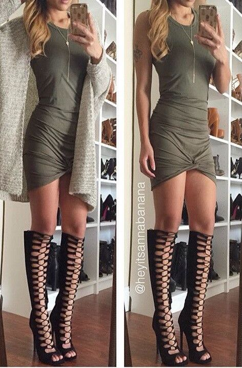Lace Thigh High Shoes