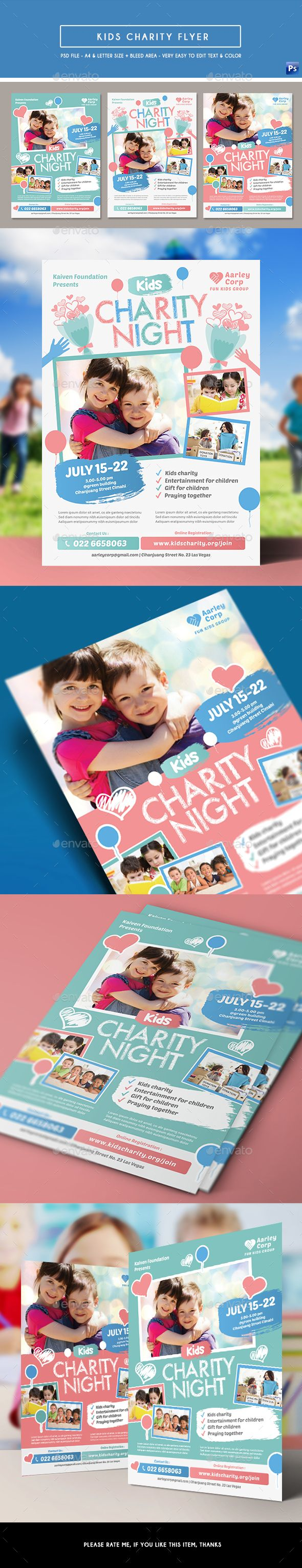 Kids Charity Event Flyer - Events Flyers