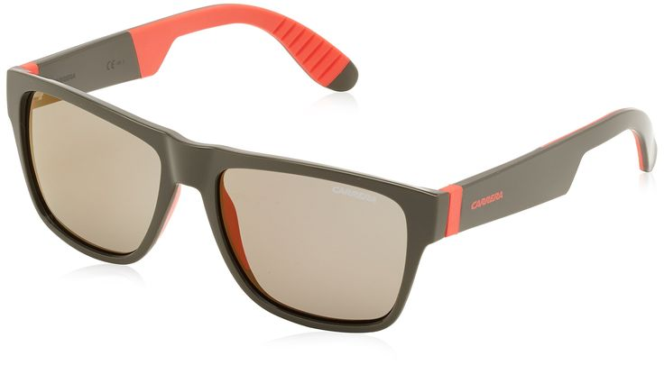 Carrera sunglasses 5002/SP 268CT Acetate Grey - Red Grey with Gold mirror effect. Reference: 5002/SP 268CT. Model: Male. Material: Acetate. Colour: Grey - Red. Lens colour: Grey with Gold mirror effect.