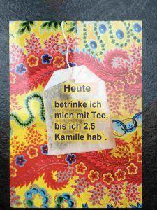 Geschenkideen für Schwangere: Glückwunsch-Karte 2,5 Kamille