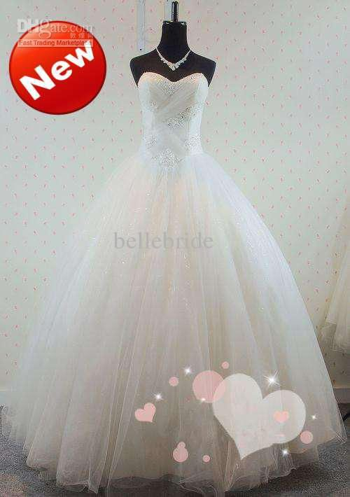Wholesale DH HOT NEW Exquisite Sweetheart Ball Gown Beads Tulle Sexy Best Bridal wedding Dresses, Free shipping, $95.2-112.0/Piece | DHgate