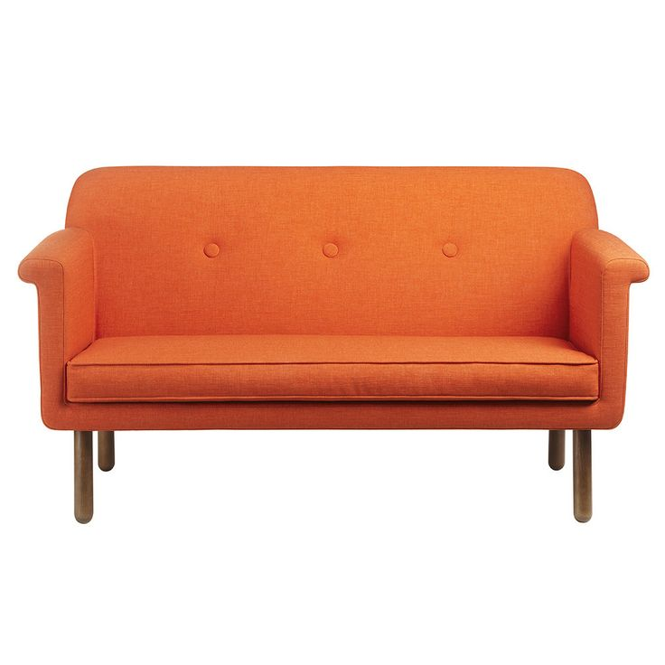 Discover+the+Orla+Kiely+Upholstered+Sofa+-+Orange+at+Amara