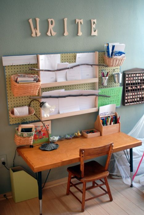 want to raise a writer? give them their own writing station- this post has tons of ideas.