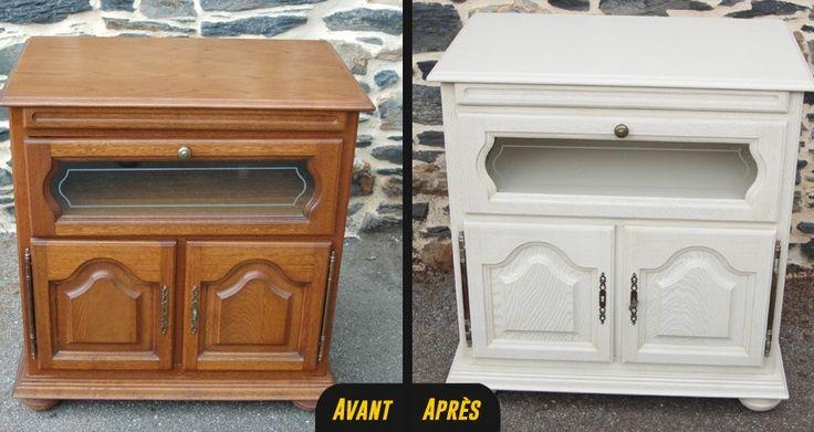 1000 id es sur le th me meuble tv relooking sur pinterest - Peinture pour meubles vernis ...