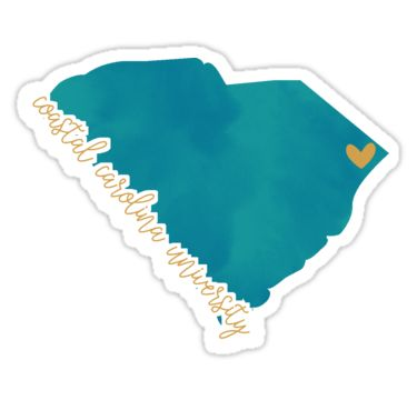 """Coastal Carolina University"" Stickers by Pop 25 