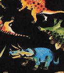 "Anti-Pill Fleece Fabric 61""-Dinosaurs On Black"