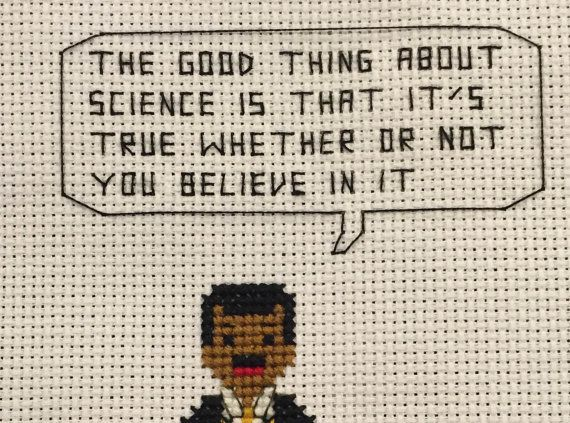 Neil deGrasse Tyson Cross Stitch Pattern
